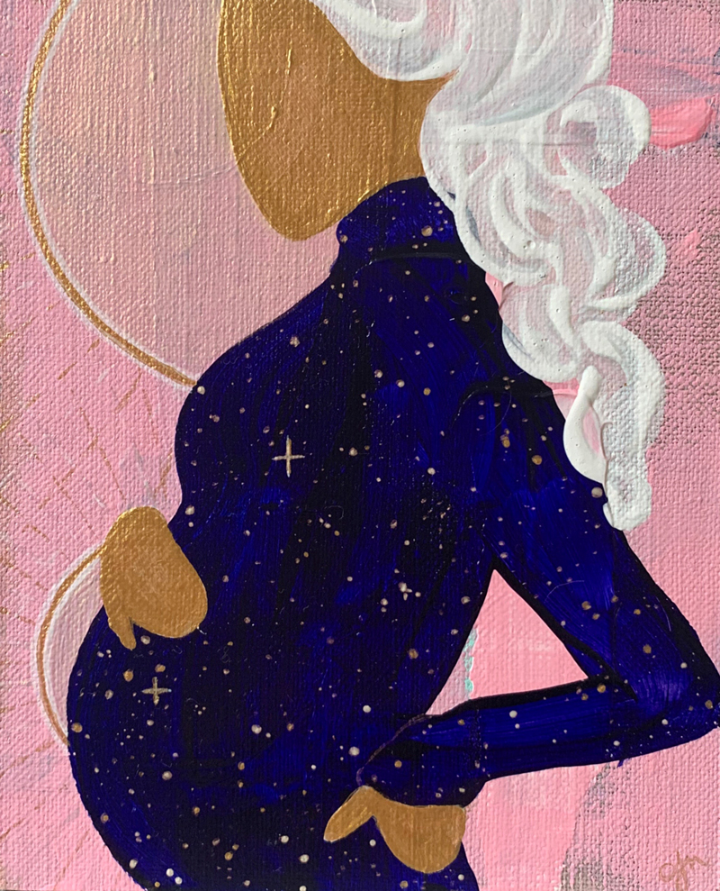 Mystic Mama Series - paintings by Melbourne artist, Chloé Newby