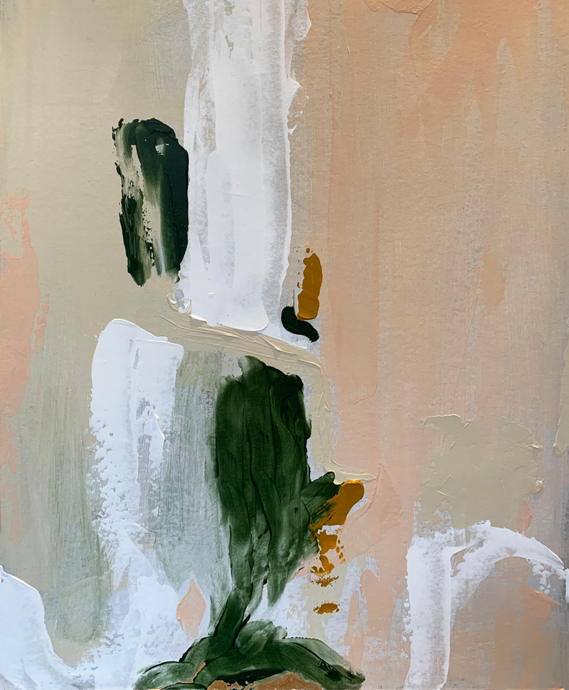 Chloé Newby 'The Depths Series' painting detail
