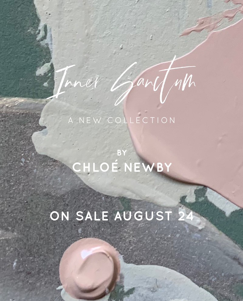 'Inner Sanctum' painting collection by Chloé Newby, on sale August 24