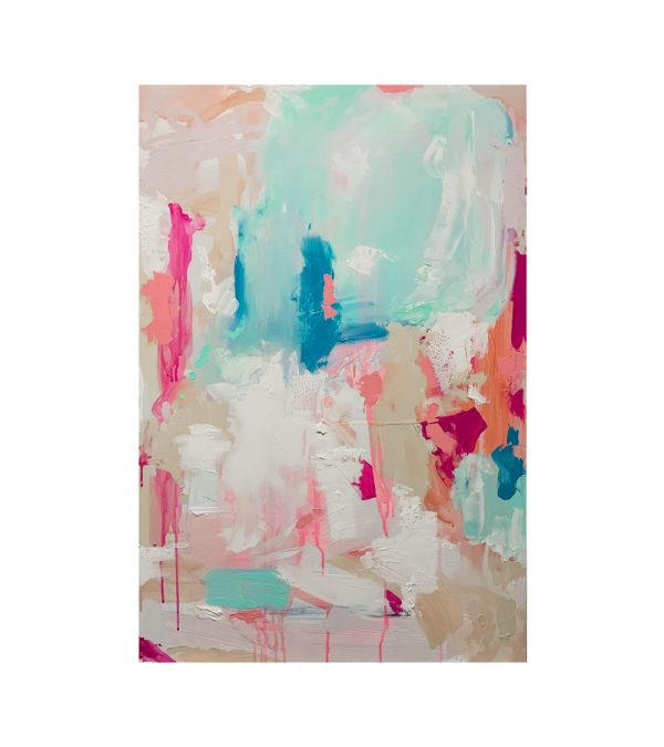 'Ice Cream Dreams' - abstract acrylic painting by contemporary Melbourne artist, Chloé Newby